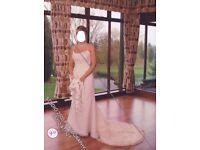 Ellis bridal wedding dress size 12 beautiful detail