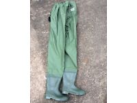 Shakespeare PVC Chest Waders Green Size 10