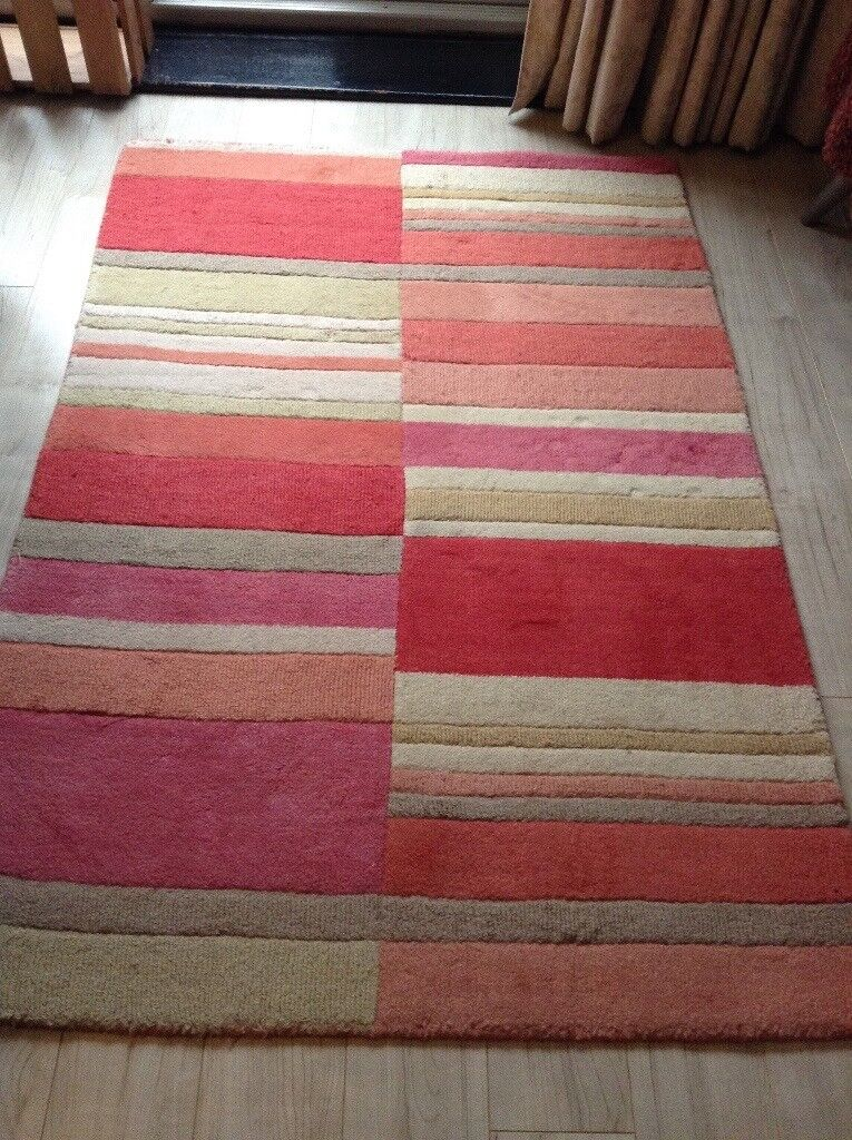 100% wool rug, used but in perfect condition