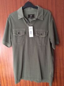 BRAND NEW WITH TAGS Genuine Timberland Top Short-Sleeved T-Shirt Polo (Size Large Slim Fit)