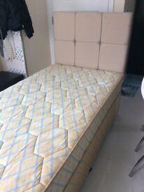 Silentnight Single bed, matresse and headboard