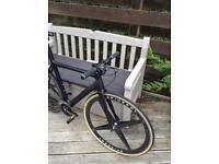 Custom made carbon fibre road bike