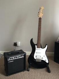 Yamaha EG012 Electric guitar with Yamaha Amplifier never used