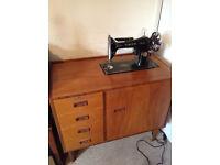 Vintage Singer Sewing Machine Retractable