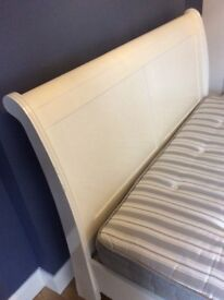 Lovely king size white sleigh bed
