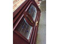 Mahogany Style uPVC Front Door.