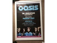Oasis Finsbury Park promo poster