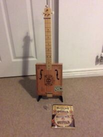 A Cigar Box Blues Slide Guitar For Sale. Reduced Price.