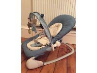 Blue chicco baby rocker/ seat