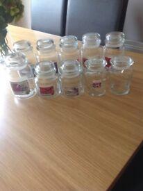 10 Empty Yankee Candle Jars