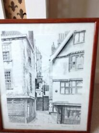 PICTURES- Christmas Steps – Bristol, Radiance & Claude Strachan Prints.