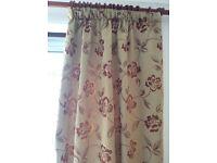 2 pairs Dunelm curtains + tiebacks for sale