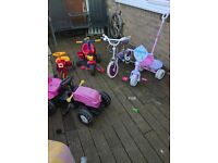tractor trike disney princess trike bike with stablisers