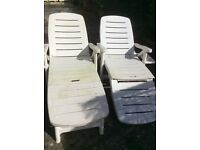 2 Sun loungers good as new, cost when new £45 each, want £45 o.n.o. For the 2.