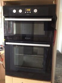 Hotpoint integrated double electric oven
