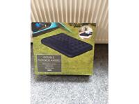 Camping Double Inflatable Flocked Mattress. Brand New in box - Unused.