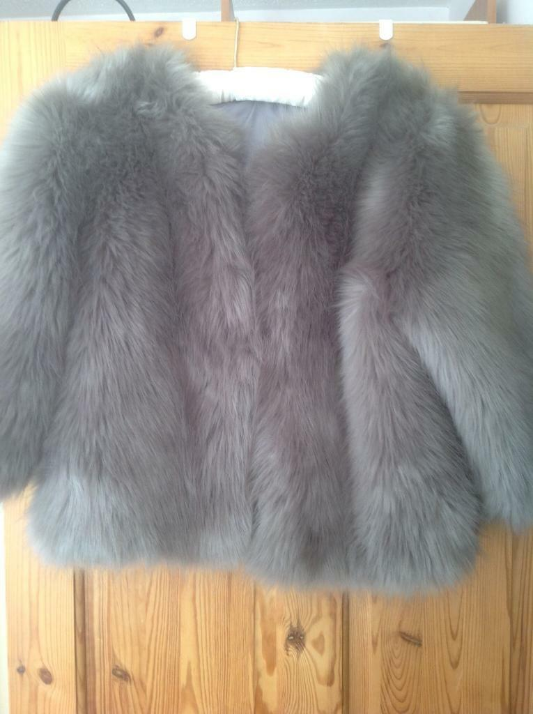 Faux long fur coat