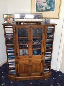 Oak Steroo Cabinet by Parker Knoll