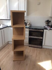 Next opus oak storage shelves unit