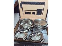 Bachmayer Solingen 16 piece saucepan set - £175