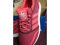 Adidas Los Angeles pink running trainers size 4.5