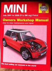 Haynes Workshop Manual For Mini 01 to 06
