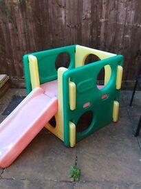 Little tikes cube slide summer outdoor toys child, toddler slide