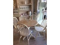 4 Ducal chairs and table
