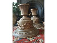 PAIR OF LARGE ANTIQUE WOODEN CLASSICAL CORBELS ARCHITECTURAL