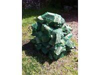 LOGS, FIREWOOD, HARDWOOD Grade 1 : £5 per X-Large : 15Kg (split weight) net size 80cm x 50cm.