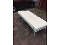 Single Folding Fold Up Guest Bed (Selling 2 Singles Together/Job Lot)