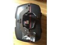 Motorbike back box by givi ,mono key with solid Steele bracket and screws