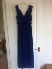 Phase Eight 8 long dress for ball, Christmas, wedding, bridesmaid blue size 12