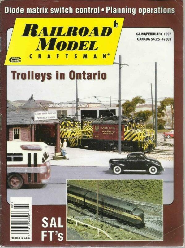 Railroad Model Craftsman February 1997 Handcar House Plans Ontario Trolleys