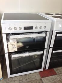 Beko 60cm white electric cooker. £349 RRP £499 new/graded 12 month Gtee