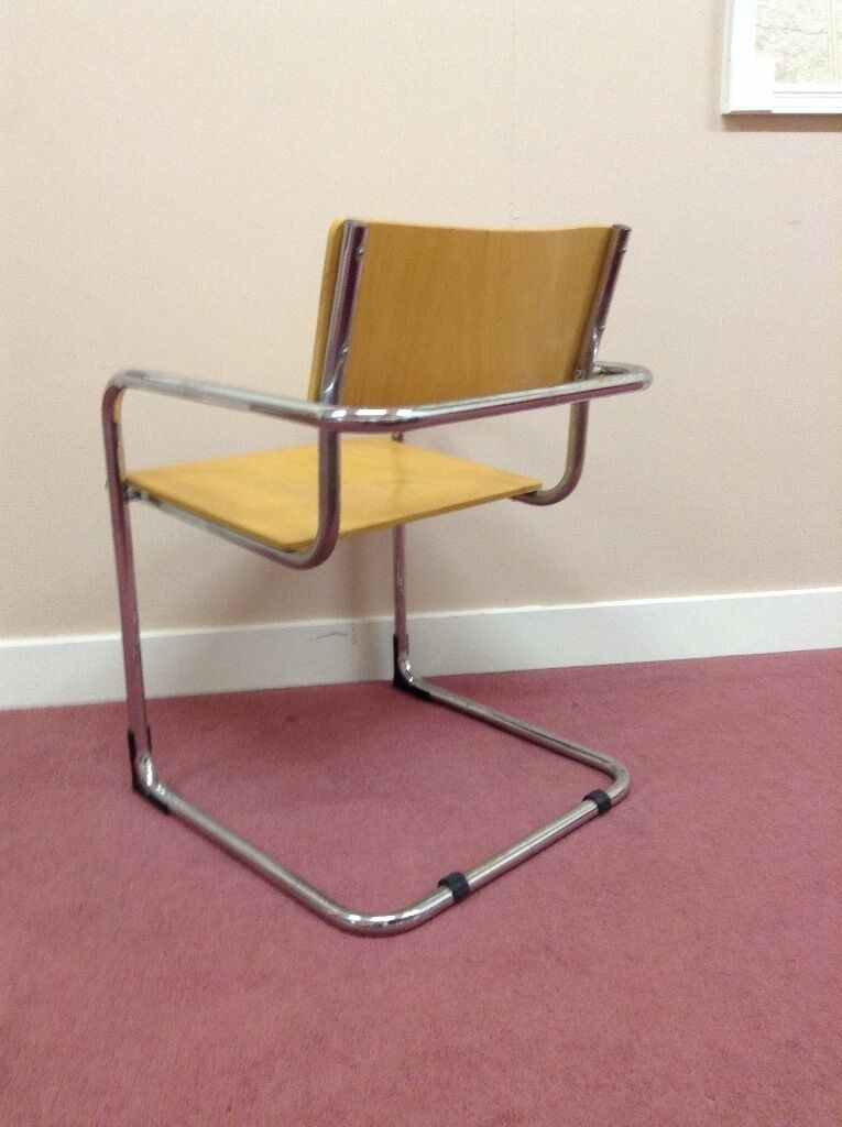Chair with chrome tubular frame and beech colour wood seat and backin Ballymena, County AntrimGumtree - Chair in beech wood colour seat with chrome tubular frame. Very comfortable and sturdy. Would suit computer chair or any room in a house