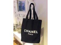 Chanel tote VIP canvas bag