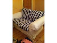 Sofa white fabric striped ikea covers for seating