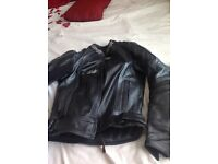 Ladies RST leather motorcycle motorbike jacket size 8