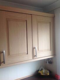 Oak effect kitchen doors