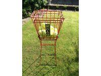 Tennis ball pedestal basket/collector.
