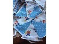 Beautiful handmade fabric bunting