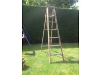 Vintage wooden ladder display or advertising