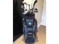 Donnay stringer golf club set and bag