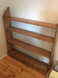 Victorian pine bookcase.