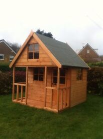 New Wooden Play House 6FT x 6FT Mini Chateau Wendy house. **FULLY T&G**