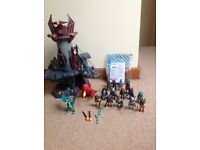 Playmobil Fantasy Dragon Castle and figures.