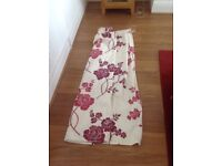 Laura Ashley pair fully lined curtains