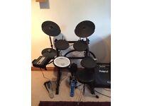 Roland v Drum kit TD-3 including Roland PM-10 Personal Drum Amp 30 watt