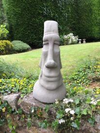 "Easter island Moai head 20"" tall £15"